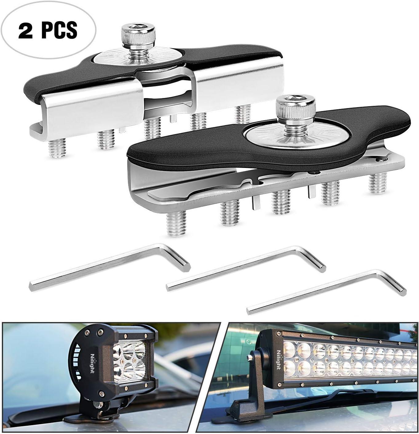 Auto Power Plus 2Pcs Universal Side Mounting Light Bar Mounting Brackets