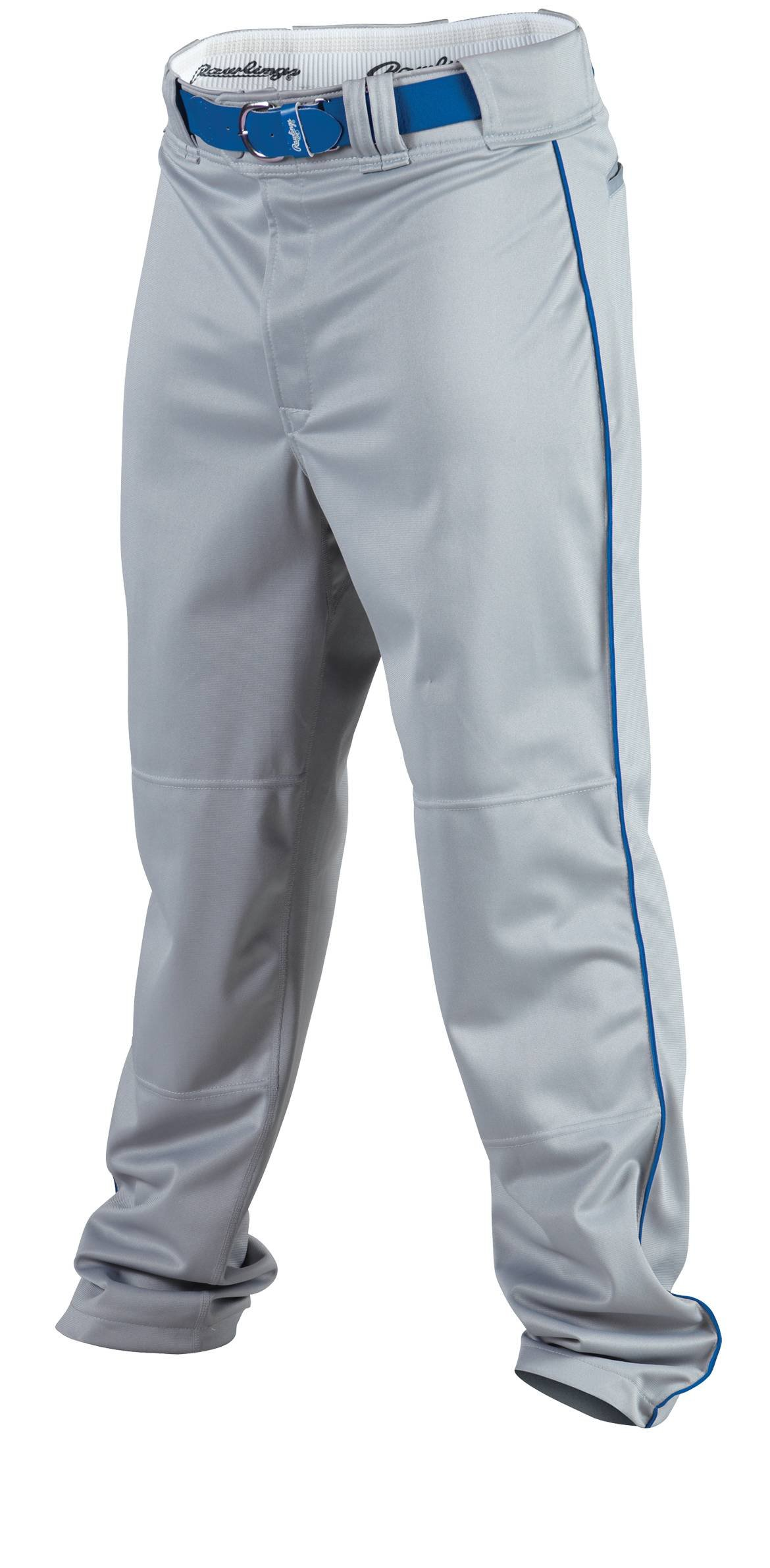 Rawlings Men's Baseball Pant (Blue Grey/Royal, Medium) by Rawlings
