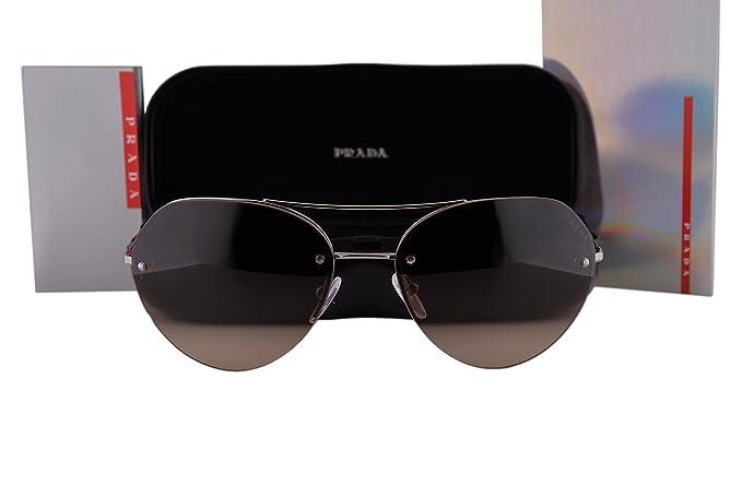 c79e87e58e4d9 Image Unavailable. Image not available for. Colour  Prada PS57RS Sunglasses  Gunmetal w Brown Gradient Lens 5AV6S1 SPS 57R