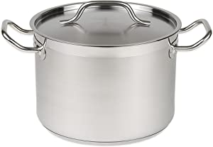 32 Qt Stainless Steel Stock Pot w/Cover
