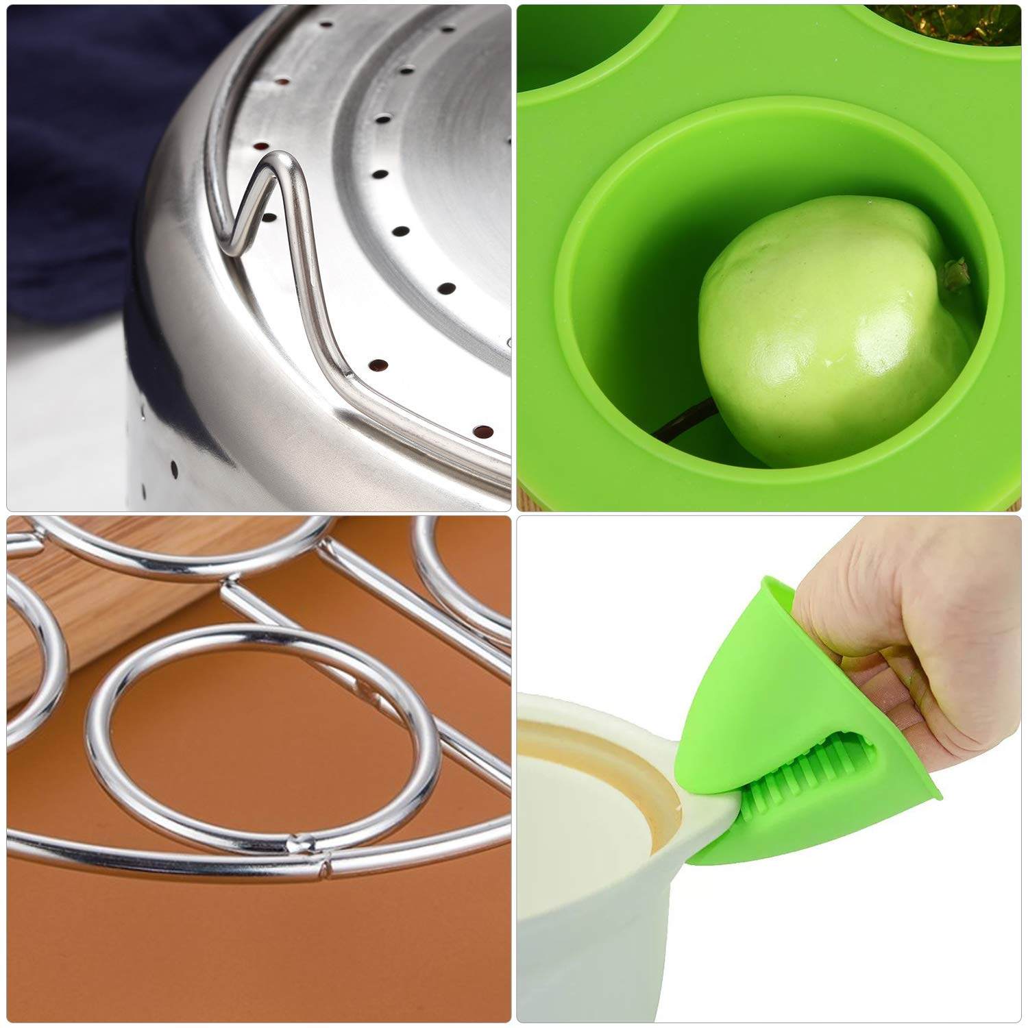 Cookware Accessories Egg Rack Silicone Egg Bites Mold Kitchen Tong Super Pdr Accessories Set Compatible With Instant Pot 6 8 Quart With Steamer Basket Springform Pan Magnetic Sheets Silicone Oven Mitts Dish Clamp Egg