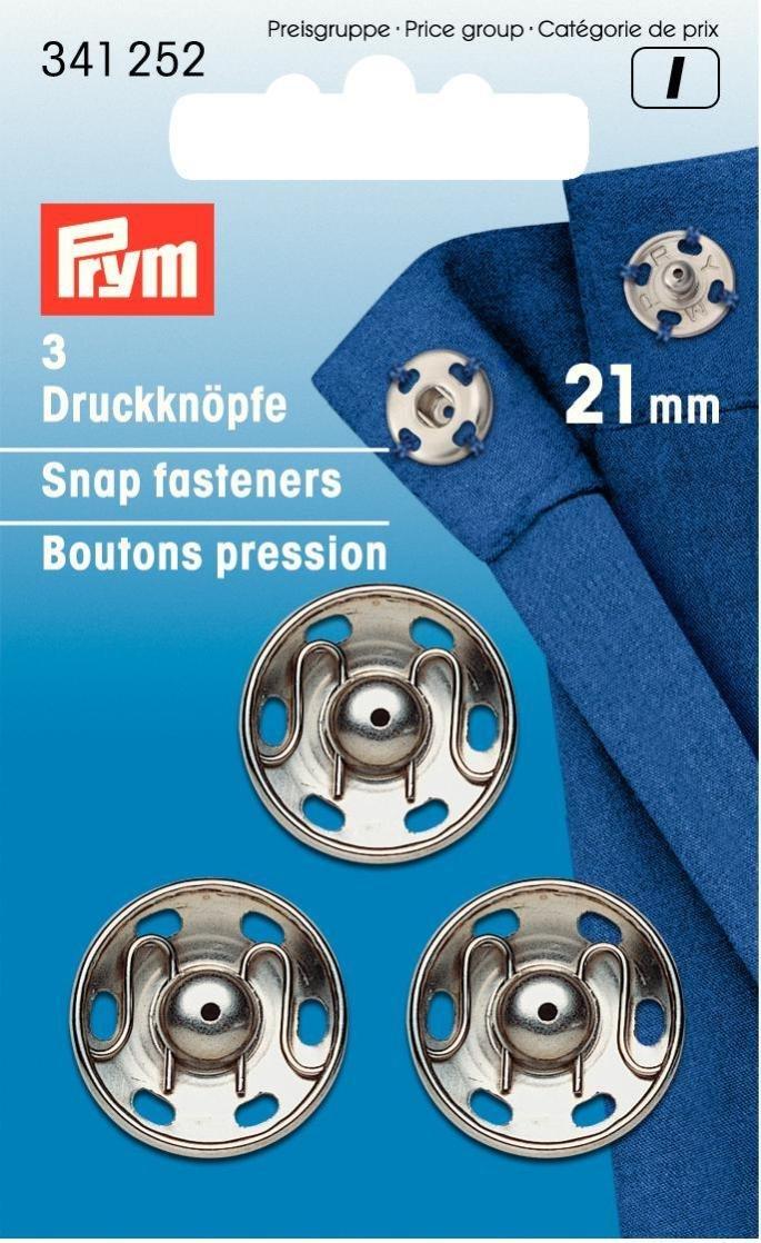 Prym, Bottoni automatici, da cucire, ottone, 21 mm, 3 pezzi PRYM_341252-1