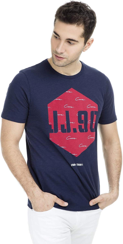 Jack & Jones Jcolaw tee SS Crew Neck Camiseta para Hombre