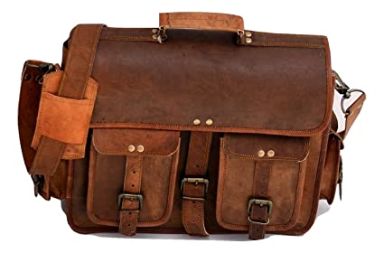 c8b4df81251 Image Unavailable. Image not available for. Color  Urban Dezire Men s  Leather Laptop Satchel Briefcase Messenger Bag ...