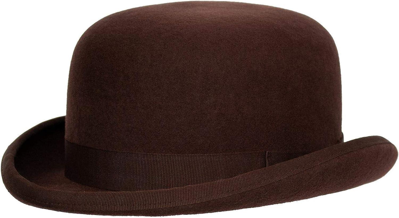3+ Colors Levine Fleming Firm Felt Derby Bowler Hat 100/% Wool