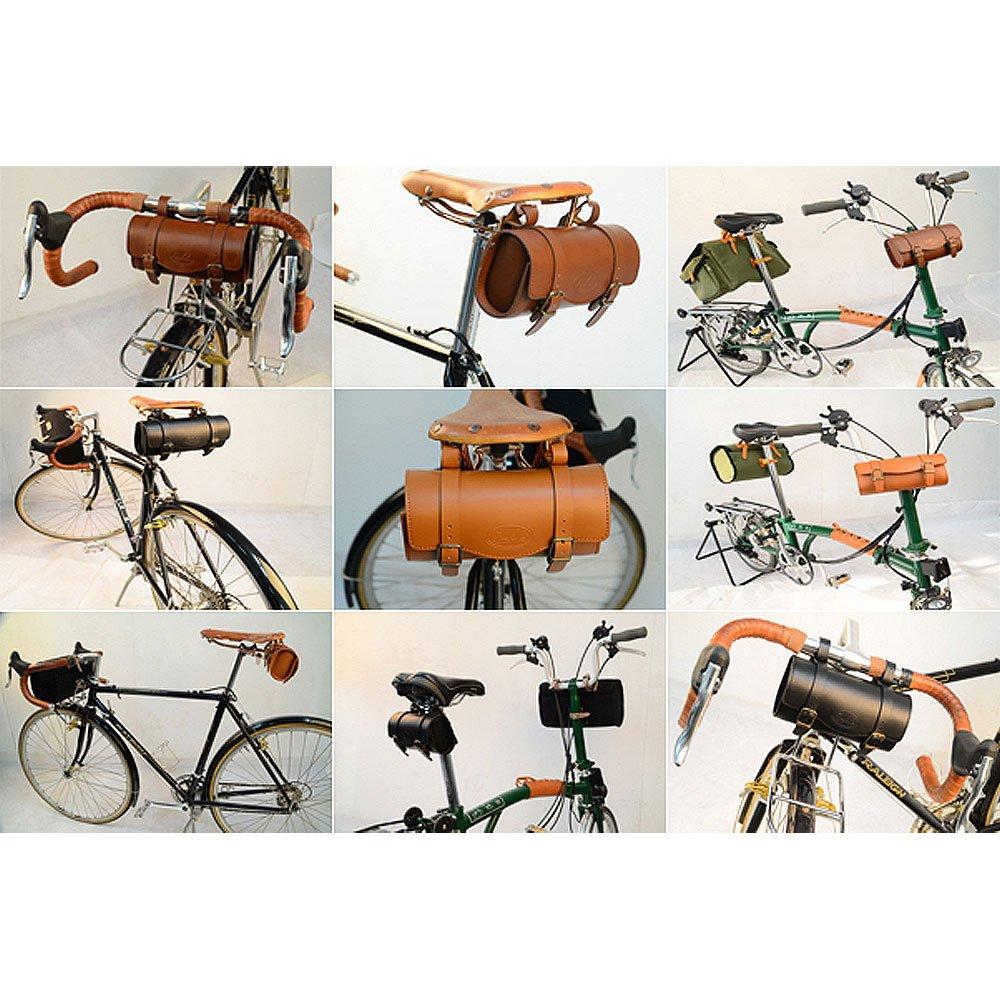 dd0c7ef8c70 Amazon.com: Zimbale Bicycle Small Leather Saddle Tool Bag - 7.7 X 2.2 X 3.5  (inch) - Black: Sports & Outdoors