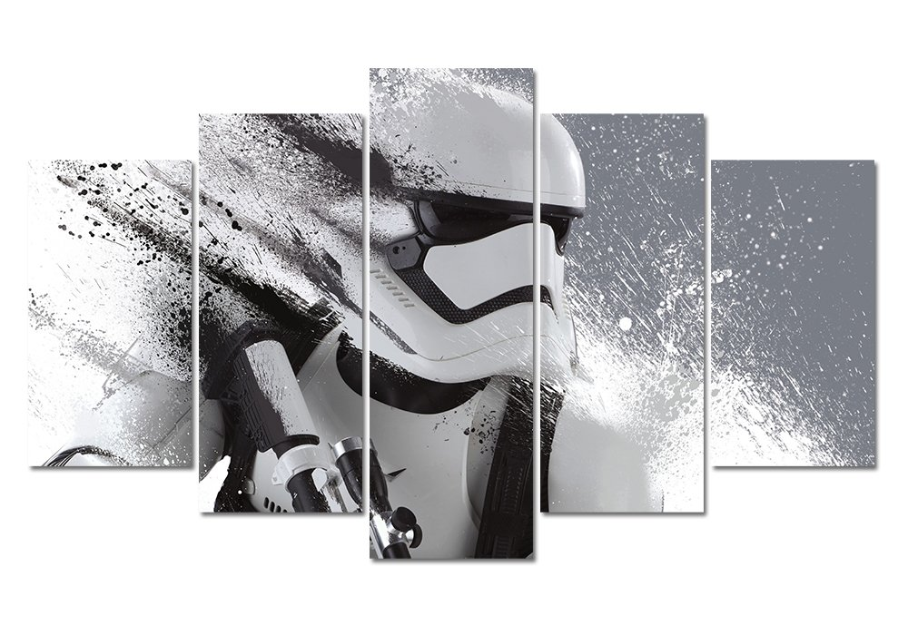 LMPTART(TM) 60x32inches Print Stormtrooper Star Wars Movie Poster Picture for Living Room Decor painting Wall Art Print Kids Decor Print Modern Home Decor Wall Art Painting Framed ready to hang
