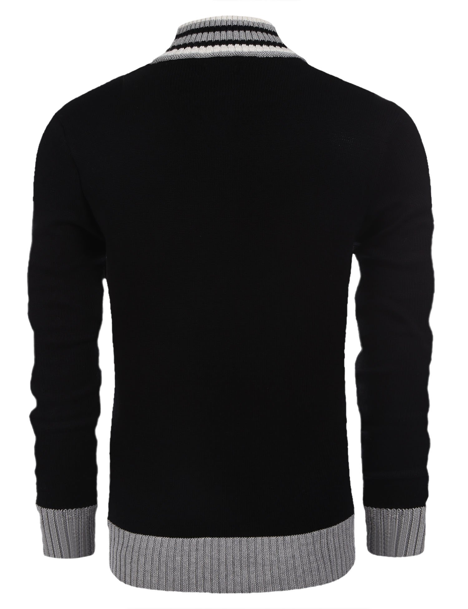 COOFANDY Men's Business Casual Crew Neck Long Sleeve Sweater Quarter-Zip Pullover by COOFANDY (Image #3)