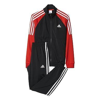 5c612ef03e5e adidas Junior Boys Tiberio Tracksuit in Black Red  adidas  Amazon.co ...