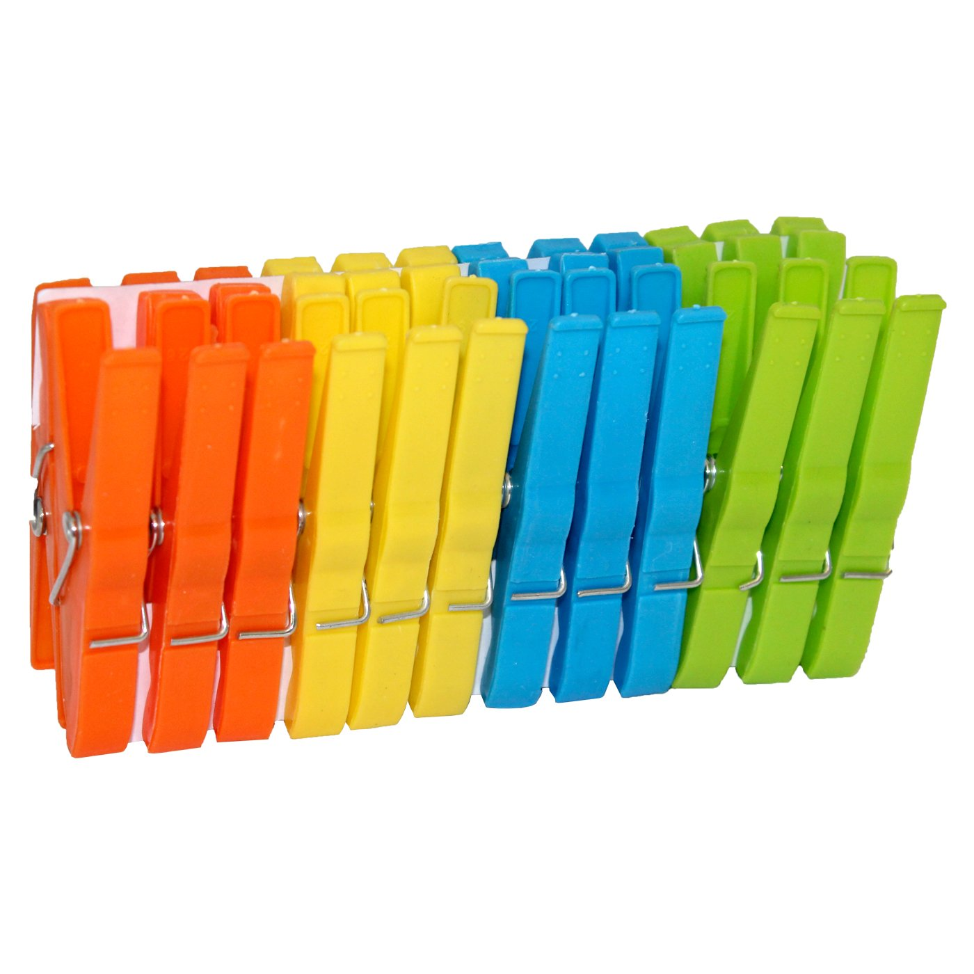 Acan 3 x Pack de 24 Pinzas de pl/ástico de 8 cm para Ropa