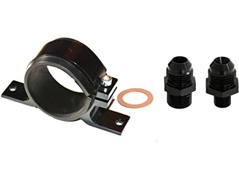 Bosch 044 Fuel Pump With Billet Cradle and AN Fitting Motoryzacja: Części Tuning