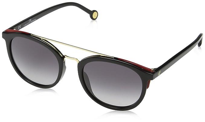 Carolina Herrera Mujer SHE741 Gafas de sol, Negro (Shiny ...