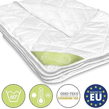 1dad3348e0 Beautissu BeauNuit SD Sommerdecke Bettdecke 135x200 cm Für Allergiker  Geeignet - Mikrofaser Steppdecke Leicht & Atmungsaktiv