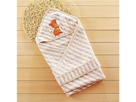 Mochila de bebé Sacos de dormir del niño recién nacido Cálido Swaddle Manta Marrón rayas saco