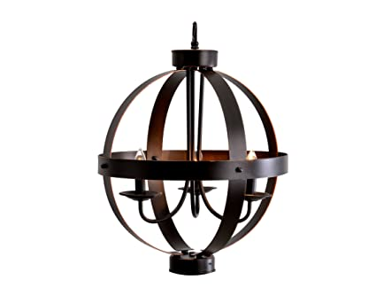 Catalina lighting 19866 000 catalina3 light metal orb modern chandelier 16 x