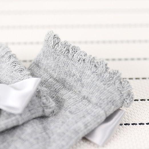 Neue Kinder Kleinkinder M/ädchen Gro/ße Bowknot Kniehohe Lange Weiche Baumwollspitze baby Socken Kinder Huhu833 Baby Socken
