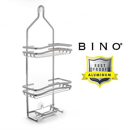 Amazon.com: BINO Hampton\' RUSTPROOF Aluminum Shower Caddy, Satin ...