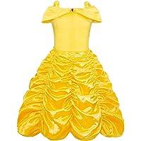 AmzBarley Vestido Princesa Niña Disfraces Cosplay Fiesta Cumpleaños Halloween Carnaval Niños Vestirse Fuera del Hombro