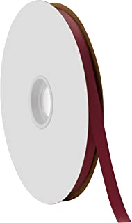 """product image for Offray Berwick 3/8"""" Single Face Satin Ribbon, Burgundy Red, 100 Yds"""