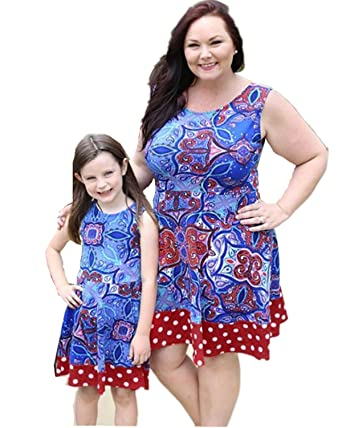 f21ccb681ae Sunward Parent-Child Shirt Dress Family Clothes Outfits Mommy and Me  Matching Dress (Baby
