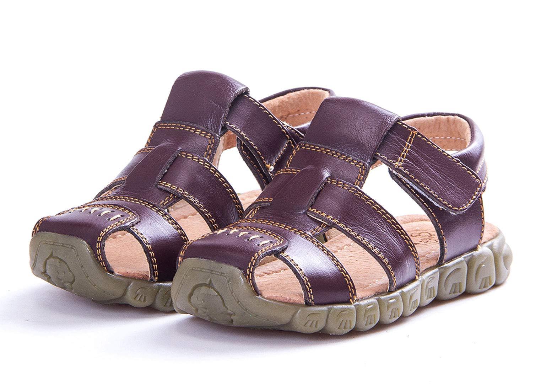 Happy Cherry Infant Baby Boys Girls Summer TPR Sole Anti-Slip Summer Walker Sandals Size 28 Brown