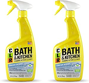 Jelmar Pb-Bk-2000 Clr Fresh Scent Bath And Kitchen Cleaner, 26 Oz Trigger Spray Bottle, 2pack