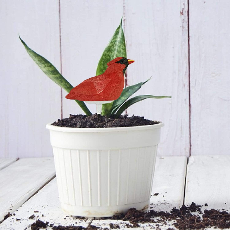 Bonsai Tree Resin Birds Shape Plant Moisture Tester Sensor PH Levels with Singing Watering Reminder Soil Moisture Meter Farm Garden Plants for Cactus Soil Soil PH Meter