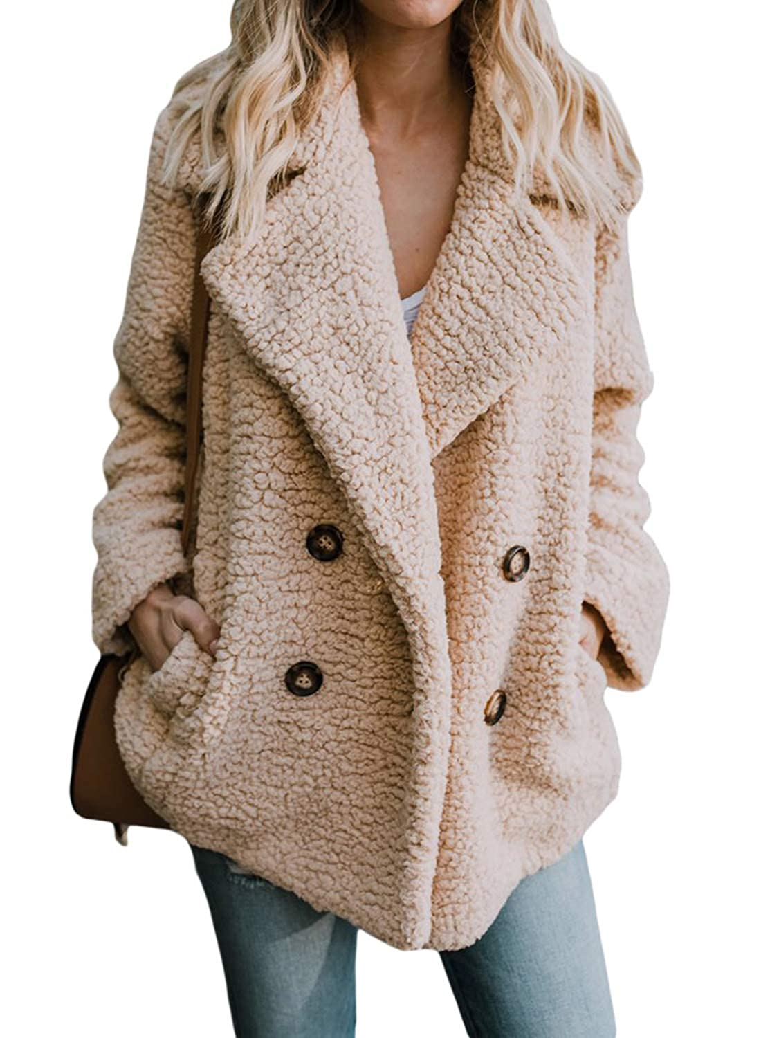 Doballa Womens Causal Faux Fur Hooded Long Sleeve Parka Coat Warm Winter Outwear
