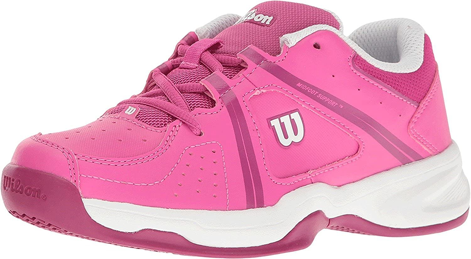 Wilson Envy Jr Tennis Shoe - Rose/Violet/White