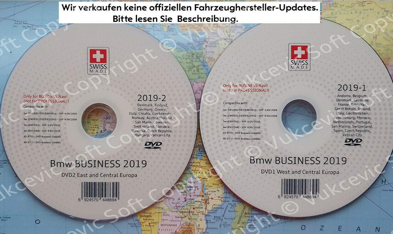B M W Update DVD Road Map Europe BUSINESS 2018 NEW DVD1+DVD2