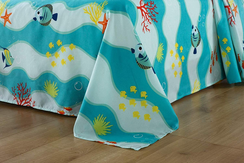 TT LINENS 5pcs//7pcs Boys Girls Comforter Set Kids Comforter Set Bedding Set Include Sheet Set Bunk Beds for Children Twin//Full// 277 Fish Comforter Full