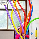 Long Animal Balloons With Pump - 260Q Twisty Magic Balloon 100pcs Assortment
