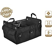 $24 » Amor Family Trunk Organizers for Car SUV Trunk Organizer, Heavy Duty Collapsible Trunk Cargo…