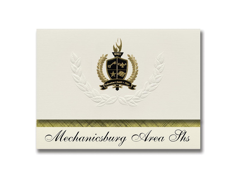 Signature Ankündigungen mechanicsburg (Bereich SHS (mechanicsburg (, PA) Graduation Ankündigungen, Presidential Stil, Elite Paket 25 Stück mit Gold & Schwarz Metallic Folie Dichtung B078VCYX1C   Neue Sorten werden eingeführt