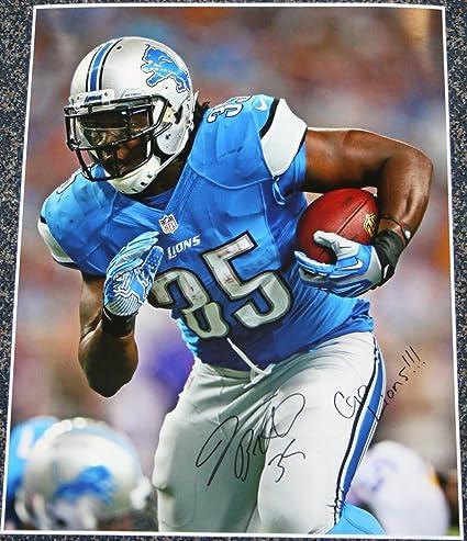 Amazon.com: Joique Bell Detroit Lions NFL Autographed 16x20 Go ...