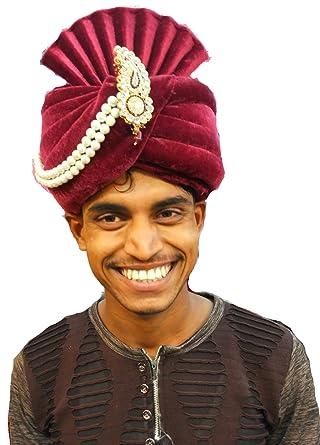 J.tushar Wedding safa Turban pagdi for Men Maroon Color Dulha ... 4ec91e5b4d9