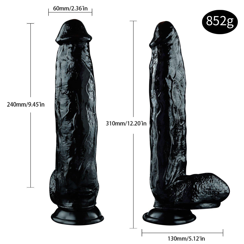 UitraLove de 9,45 pulgadas - Juego gratuito de UitraLove manos super gruesas y material médico de PVC Grandes juguetes (Color : NEGRO) d3d6ff