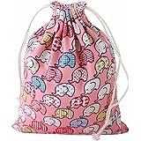 db80ed2bb0 HCFKJ New Fashion Small Drawstring Bags Wedding Cotton Cloth Bag Pack for  Children Prime(3
