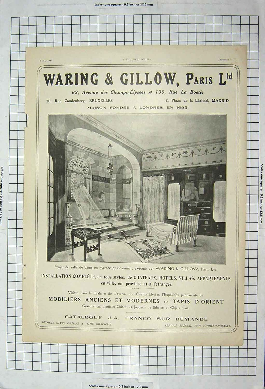 Amazon.de: Waring Gillow Paris, 1912 Retro Bruxelles Madrid