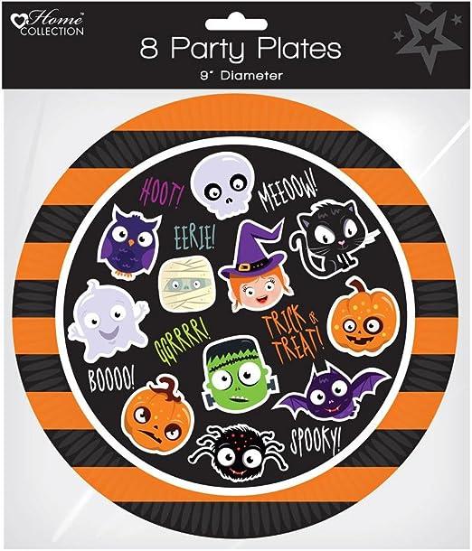 Pack de 8 platos de fiesta de Halloween 9
