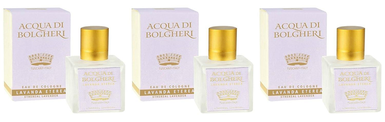 Dr Taffi - Agua de bolgheri lavanda Eterea Agua de colonia 3 paquetes de 80 ml - talcato, flores, unisex - [Kit con jabón natural quizen (Incluye]: ...