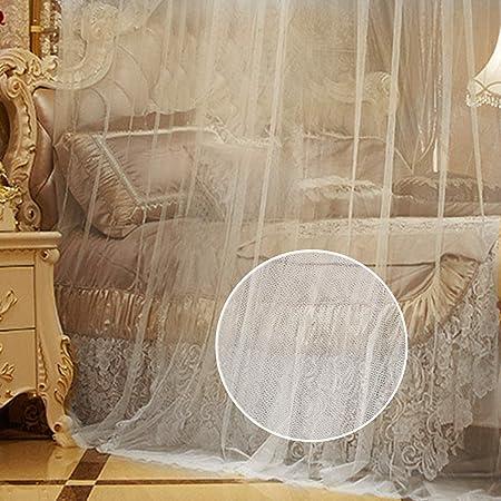 Zubita Mosquitero para Camas, Universal White Dome Malla de mosquitera, Suave y Cómodo, Adecuado para Camas Individuales y Dobles,Hamacas Cunas 50x230x850cm