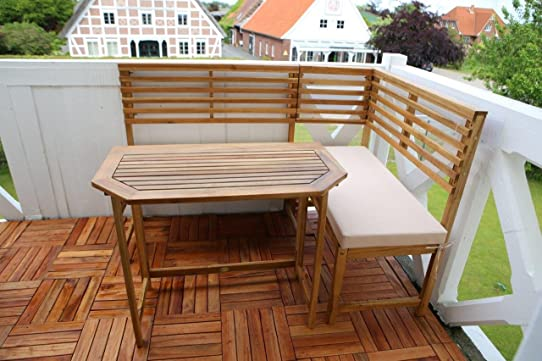 Destiny balcon amalfi balcony salon de jardin avec banc d\'angle de ...
