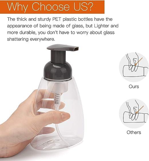 ULG Dispensadores de jabón espumosos Botellas de Bomba 300 ml (10 ...