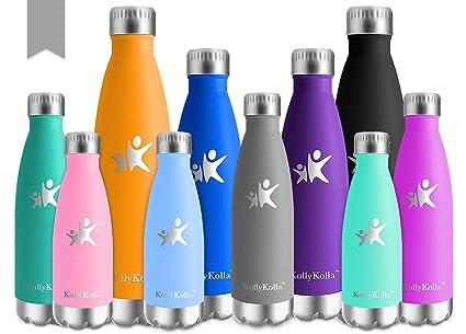 Amazon.com : KollyKolla Vacuum Insulated Water Bottle ...