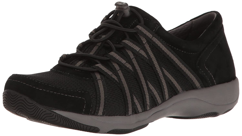 Dansko Women's Honor Sneaker B01NAPJ0Q5 36 EU/5.5-6 M US|Black/Black Suede