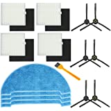 Electropan Replacement Kits for ILIFE V8s Robotic Vacuum Cleaner, Side Brushes,Filters, Mop Cloth