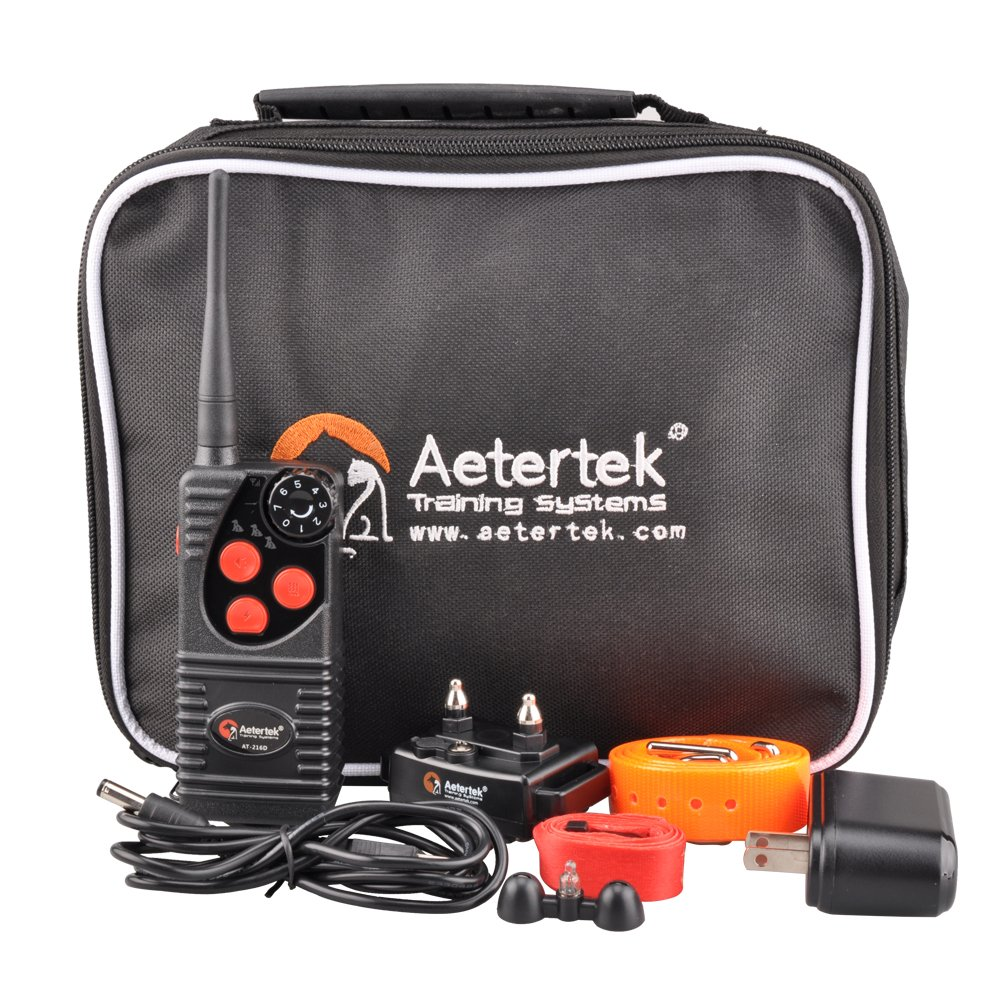 Aetertek 600 Yard Remote Dog Training Collar with Beep/Vibrating/Shock Electric E-collar/Waterproof and Rechargeable No Bark Trainer For Small,Medium and Large Dog