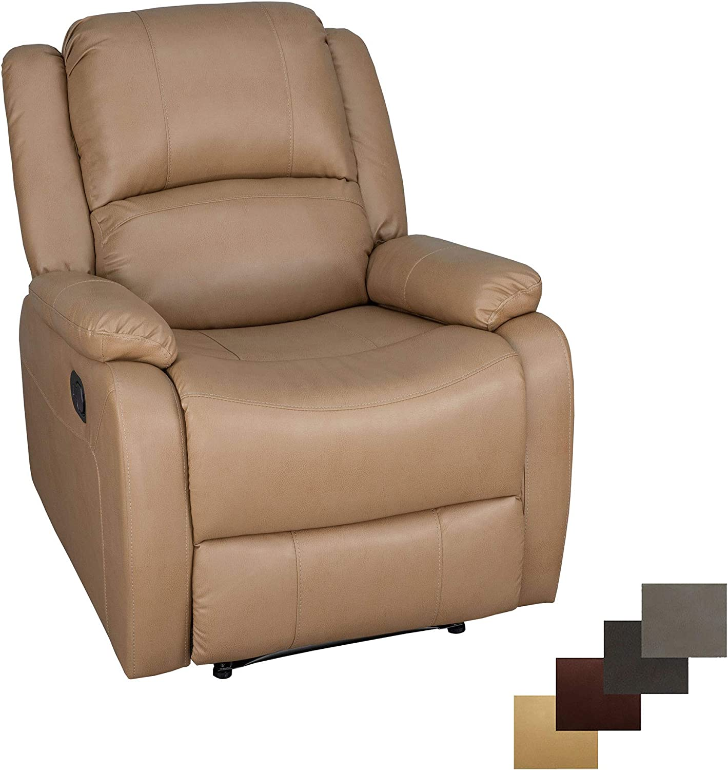 RecPro Charles Collection 30 Zero Wall RV Recliner Wall Hugger Recliner RV Living Room Slideout Chair RV Furniture RV Chair Toffee