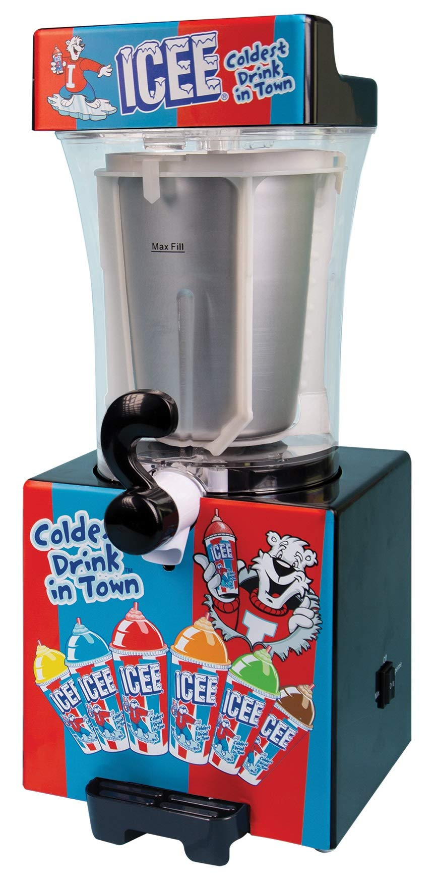 iscream Genuine ICEE Brand Counter-Top Sized ICEE at Home Slushie Maker by iscream